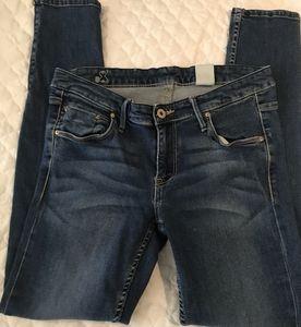 H&M & Denim Blue Zip Accent Ankle  Sz 31 Jeans
